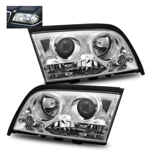 SPPC Projector Headlights Chrome For Mercedes-Benz C Class W202 - (Pair) (W202 Headlights compare prices)