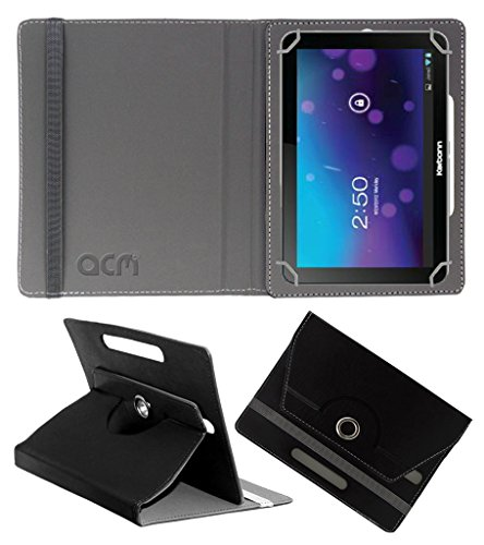 Acm Rotating 360° Leather Flip Case For Karbonn Smart Tab 7 Tornado Tablet Cover Stand Black  available at amazon for Rs.149