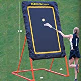 EZGoal Lacrosse Folding and Tilting Rebounder, 8-Feet, Orange