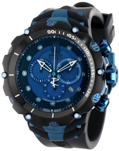 Invicta Men's 14417 Jason Taylor Reserve Chronograph Blue Dial Black Polyurethane Watch