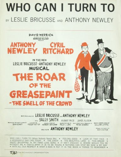 Who Can I Turn to (Sheet Music) From Roar of the Greasepaint - The Smell of the Crowd PDF