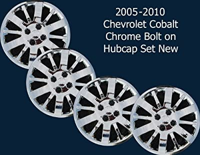 "Chevy Cobalt Chrome 15"" 4 Lug Bolt On Hubcaps Wheel Covers New Set"