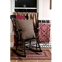Country Style Black Tan Star Euro Sham Fabric 26x26