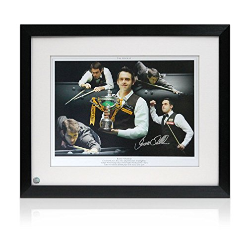 Signed And Framed Ronnie O'Sullivan Snooker Photograph: The Rocket front-677453