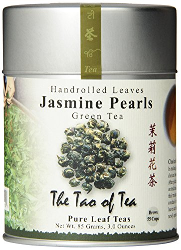 The Tao of Tea, Handrolled Jasmine Pearls Green Tea, Loose Leaf,