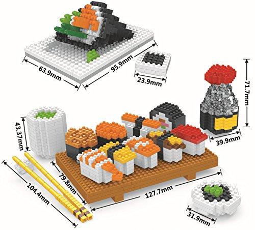 Otulet Sushi Sashimi Model Toy Building Blocks Mini Figure Nanoblock Diamond Building Set DIY Educational Toys