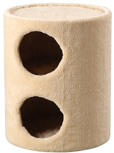 Whisker World Traditional Duplex Condo Cat Furniture, Beige Carpet