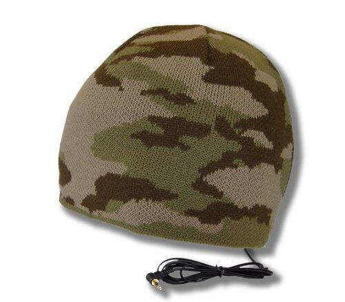 Tooks Brigade Camo Headphone Hat With Built-In Removable Headphones - Color: Desert Storm