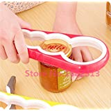 4 In 1 Creative Multifunction Gourd-shaped Can Opener Screw Cap Jar Bottle Wrench Kitchen Tool