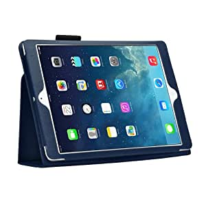 Bestwe Dark Blue Ultra Slim Pu Leather Stand Cover Case For Apple Ipad Air with Magnetic Auto Wake & Sleep Function