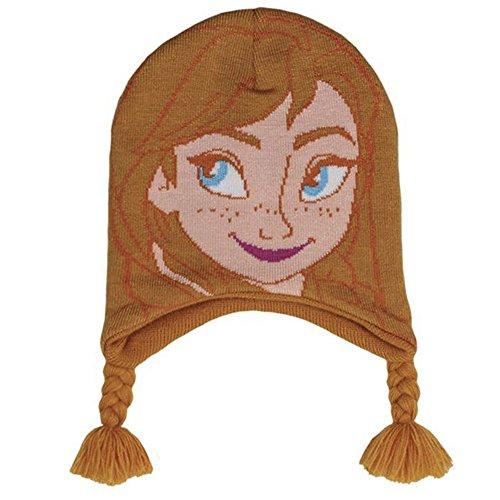 Frozen Disney - Elsa e Anna - Cappello Beretto con Trecce - Bambina - Novità Prodotto Ufficiale [ - Anna]