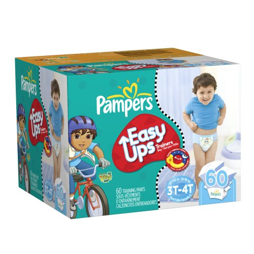 Pampers Easy Ups Boys Size 3T-4T Diapers Big Pack 60 Count