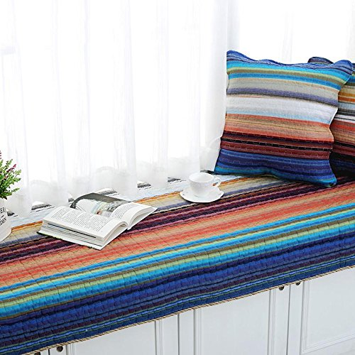 new-day-striped-cotton-floating-window-pad-pastoral-cloth-window-non-slip-cushion-fashion-90180cm