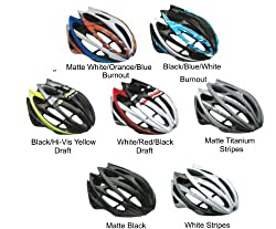 Bell 2014 Gage Road Cycling Helmet (Mat White/Orange/Blue Burnout - M) from Bell