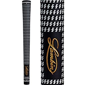 Lamkin Crossline 58 Round Golf Grip (Black/White, Standard)