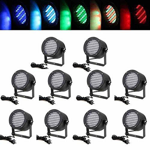 Eteyo 10Pcs 86 Rgb Led Stage Light Par Dmx-512 Laser Projector Lighting Dj Show Party Lamp