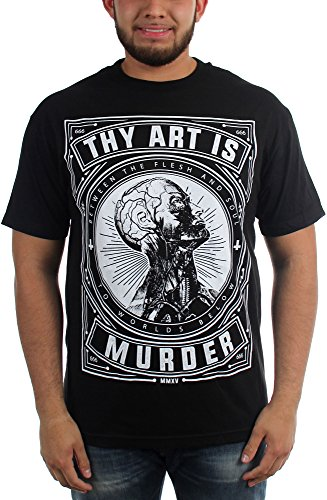 Thy Art Is Murder-Flesh And Soul-Maglietta da uomo nero Large
