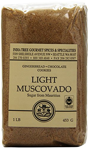 India Tree Light Muscovado Sugar, 16 Ounce (Pack of 4)