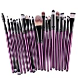 Voberry® 20PC/Set Hot Sale Make Up Sets Soft Powder Foundation Eyeshadow Eyeliner Lip Makeup Brushes - 9 Colors (Color-04)