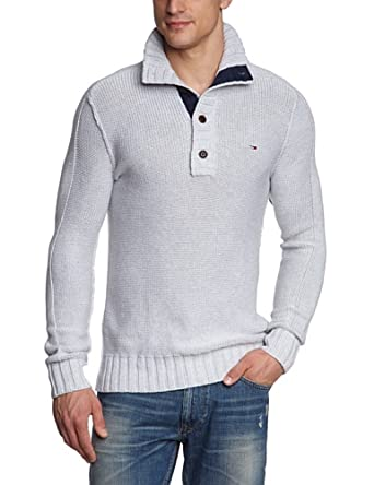 Hilfiger denim - pull - homme - gris (light grey heather) - xxl