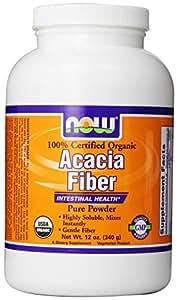 Now Foods Fiber Powder,  Organic Acacia, 12-Ounce