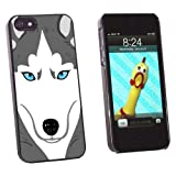 Graphics and More Siberian Husky Dog Pet Snap-On Hard Protective Case for Apple iPhone 5/5s - Non-Retail Packaging - Black