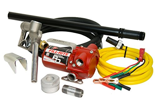 Fill-Rite-RD812NP-Pump-Manual-Nozzle-8-Discharge-Hose-23-41-Telescoping-Suction-Tube-Nozzle-Boot-Bung-Tank-Mount-Adapter-10-Quick-Connect-Power-Cord-with-Alligator-Clips-Red