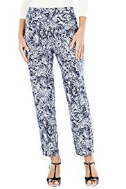 Cotton Rich Bali Print 7/8 Cropped Trousers