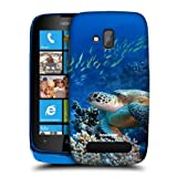 Head Case Designs Sea Turtle Sitting On Coral Reef Wildlife Hard Back Case Cover for Nokia Lumia 610