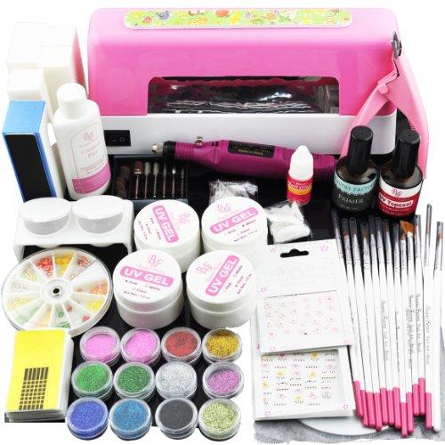 Beauties-Factory-UV-Gel-Nail-Set-with-Nail-Drill-9W-UV-Lamp