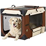Karlie Flamingo 31382 - Smart Top De Luxe - Hunde Transportbox - 91 x 61 x 58 cm, beige / braun