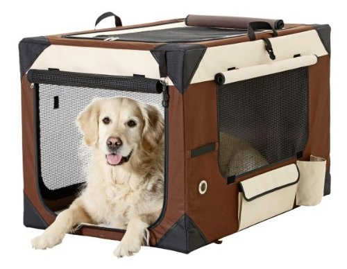 Flamingo 31380 - Smart Top De Luxe - Hunde Transportbox - 61 x 46 x 43 cm, beige / braun