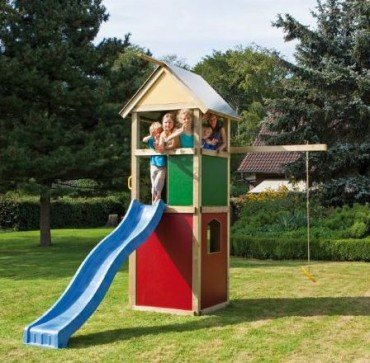 WINNETOO Spielturm Kletterturm bunt GP851