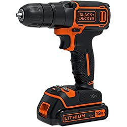 BLACK+DECKER BDCDC18K-QW Trapano/Avvitatore 18V Litio, 1.5Ah, in Valigetta