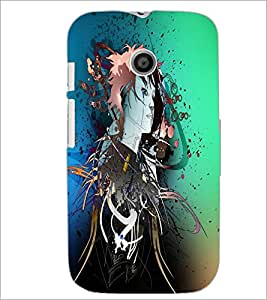 PrintDhaba Abstract Image D-4445 Back Case Cover for MOTOROLA MOTO E (Multi-Coloured)