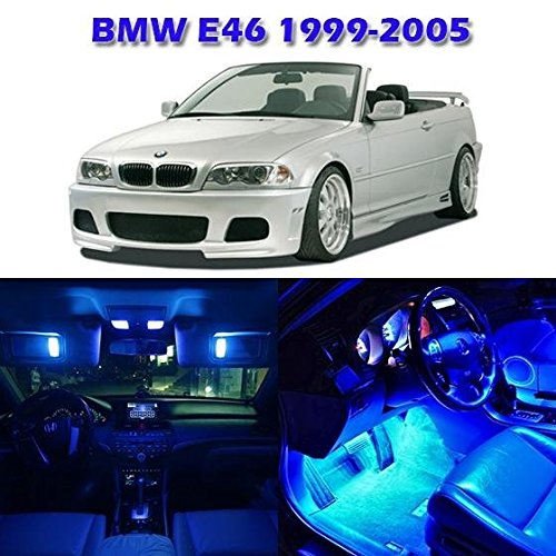 Partsam 1999-2005 BMW E46 Sedan Wagon Coupe Blue Interior LED Light Package Kit (7 Pieces) (Bmw Led Interior Lights compare prices)