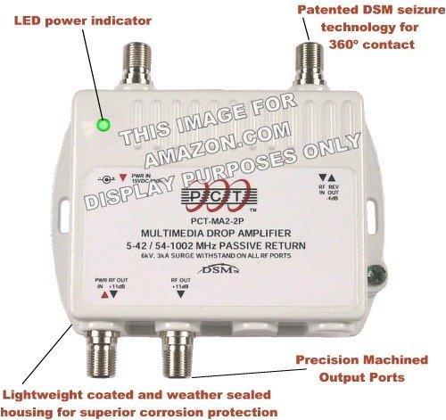 2 Port Bi Directional Cable Tv Hdtv Amplifier Splitter