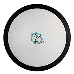 Round 12 Inch Non-Stick Silicone Baking Mat for Pizza Pans Made by Mrs. V\'s Kitchen