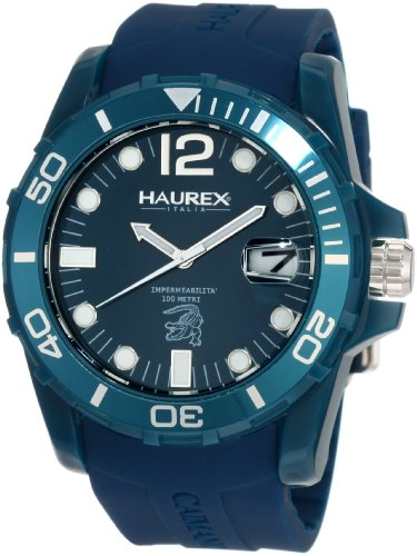 Haurex Italy - B1354UBB - Montre Homme - Quartz Analogique - Bracelet Caoutchouc Bleu