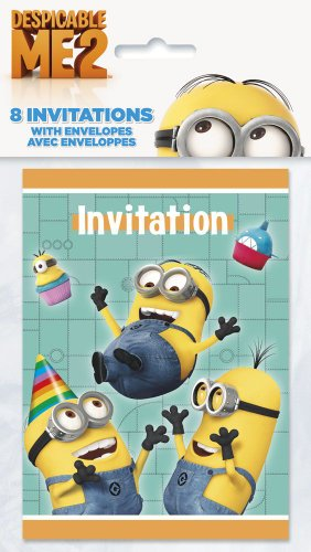 Despicable Me Invitations, 8ct