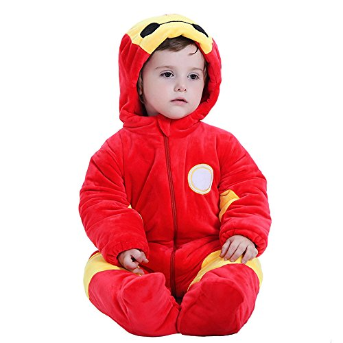 Oudy Unisex Infant Onesie Cosplay Costumes Kigurumi Baby Pajamas Bay Ironman 90 (Infant Iron Man Costume)