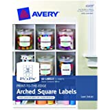 Avery Print-to-the-edge Arched Square Labels, Matte, 2.5 X 2.31, Pack Of 60 (41459)
