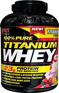 SAN 100% Pure Titanium Whey Supplement, Tropical Berry, 5 Pound
