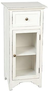 Clayre y fed 5H0078 armario con cajones cómoda con una puerta blanco 38 x 33 x 81 cm aprox