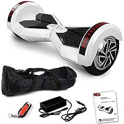 """8"""" Smartway Elektro Roller Skateboard Tretroller Elektroroller Driveboard (Weiß)"""