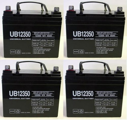 12V 35Ah Group U1 Deep Cycle Sealed Battery - 4 Pack