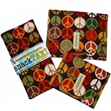 SnackTaxi Reusable Sandwich-sack Bag, Snack-sack Bag and Twice-as-nice Napkin Peace Earth Set.