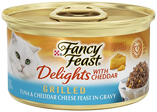 Fancy Feast Delights With Cheddar Grilled Tuna & Cheddar Cheese Feast In Gravy