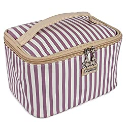 Diwali Gifts for Women Cosmetic Bag cum Travel Organizer - Purple (PU-001173-PUSTRIP-BG)