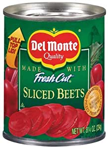 Del Monte Fresh Cut Beets - Sliced 8.25 oz Can 12 Pack